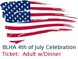 event:  July 4, 2017 - adult w/dinner